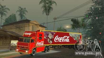 KAMAZ 54112 Navidad para GTA San Andreas