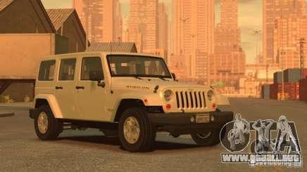 Jeep Wrangler Unlimited Rubicon 2013 para GTA 4