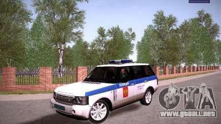 Range Rover Supercharged 2008 policía Departamento para GTA San Andreas