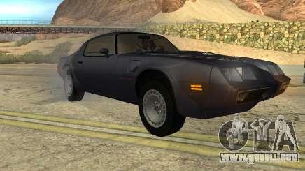Pontiac Firebird Trans Am Turbo 1980 para GTA San Andreas
