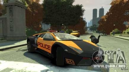 Lamborghini Reventon Police Hot Pursuit para GTA 4