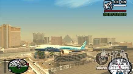 Boeing 787 Dreamlinear para GTA San Andreas