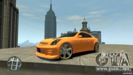 INFINITI G35 COUPE TUNNING para GTA 4