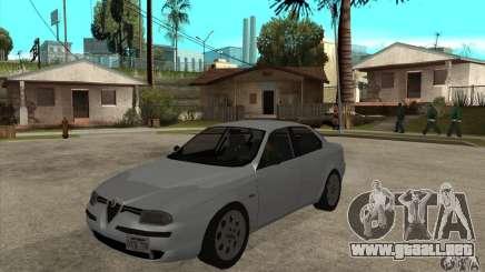 Alfa Romeo 156 2,5V6 2000 para GTA San Andreas