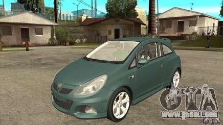 Vauxhall Corsa VXR para GTA San Andreas