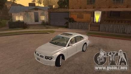 BMW 760I 2002 para GTA San Andreas