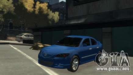Mazda 3 sedan 2008 para GTA 4