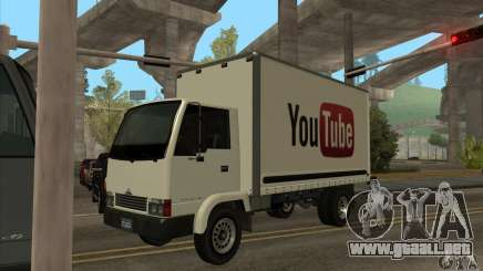 Camión con logotipo de YouTube para GTA San Andreas