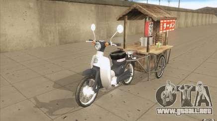 Honda Super Cub con un carro para GTA San Andreas