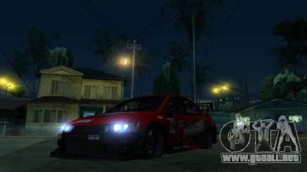 Mitsubishi Lancer Evo9 Wide Body 2 para GTA San Andreas