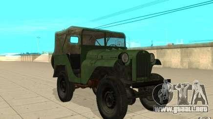 Gaz-64 piel 1 para GTA San Andreas