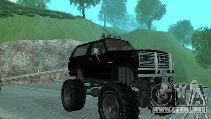 Ford Bronco Monster Truck 1985 para GTA San Andreas