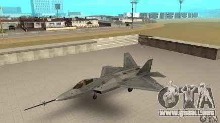 YF-22 Grey para GTA San Andreas