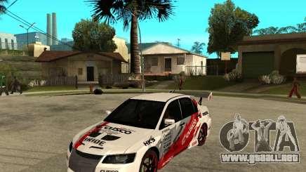 Lancer Evolution VIII, los estadounidenses intervinieron para GTA San Andreas