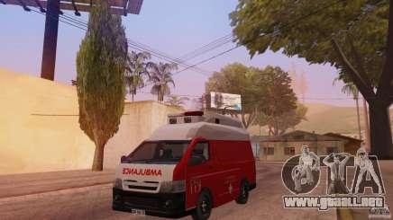 Toyota Hiace Philippines Red Cross Ambulance para GTA San Andreas