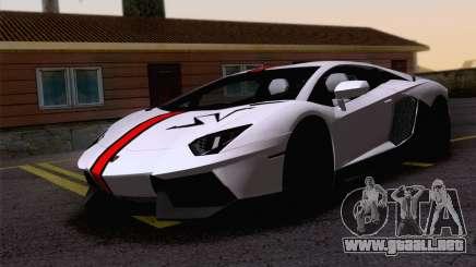Trabajos de pintura Lamborghini Aventador LP700-4 para GTA San Andreas