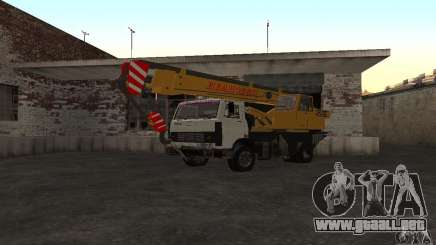 MAZ camión grúa para GTA San Andreas