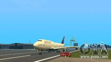 Boeing 747-400 Delta Airlines para GTA San Andreas