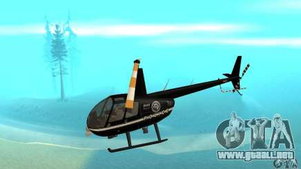 Robinson R44 Raven II NC 1.0 negro para GTA San Andreas