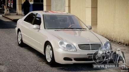Mercedes-Benz W220 белый para GTA 4