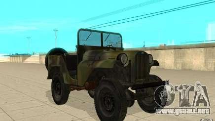 Gaz-64 piel 2 para GTA San Andreas