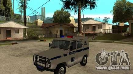 UAZ 31514 patrulla para GTA San Andreas