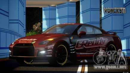Nissan GT-R Black Edition GReddy para GTA 4