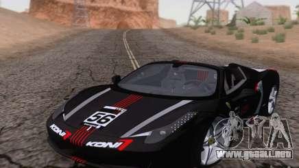 Ferrari F458 negro para GTA San Andreas