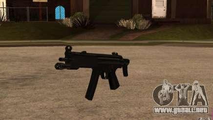 Nuevo MP5 con linterna para GTA San Andreas
