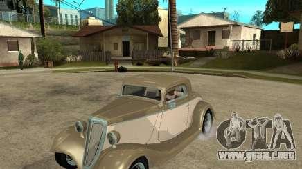 Ford 1934 Coupe v2 para GTA San Andreas