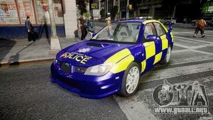 Subaru Impreza WRX Police [ELS] para GTA 4