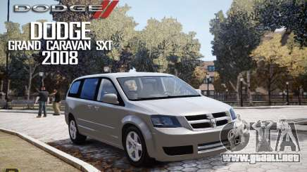Dodge Grand Caravan SXT 2008 para GTA 4