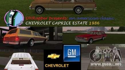 Chevrolet Caprice Estate 1986 para GTA Vice City