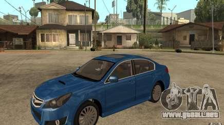 Subaru Legacy B4 2.5GT 2010 para GTA San Andreas