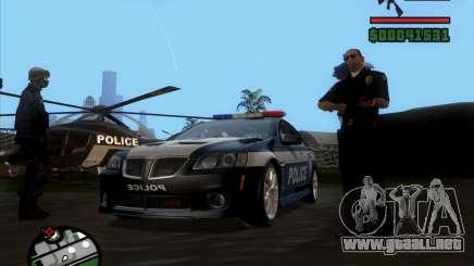 Pontiac G8 Police para GTA San Andreas