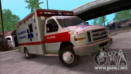 Ford E-350 Ambulance v2.0 para GTA San Andreas