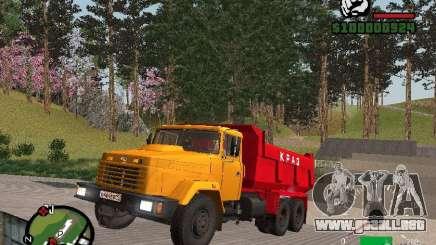 Camión KrAZ 65055 para GTA San Andreas