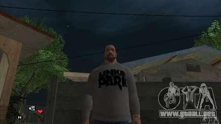 Beta v0.1 suéter Linkin Park para GTA San Andreas