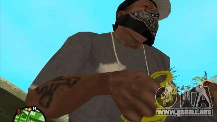 Nudillos de latón dorados para GTA San Andreas