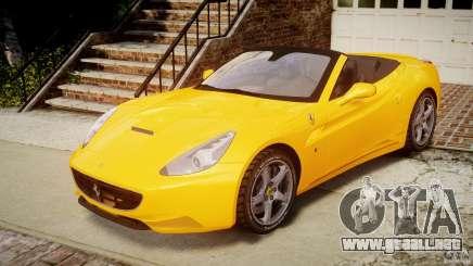 Ferrari California v1.0 para GTA 4