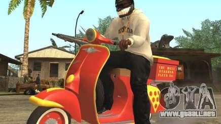 Vespa N-50 Pizzaboy para GTA San Andreas