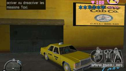 Ford Crown Victoria LTD 1985 Taxi para GTA Vice City