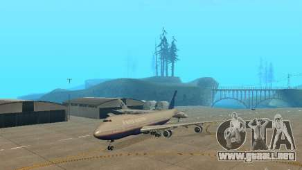 Boeing 747-100 United Airlines para GTA San Andreas