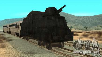 Tren blindado alemán del segundo mundo para GTA San Andreas