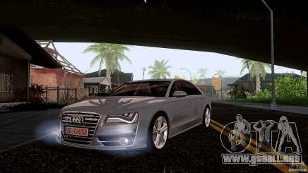 Audi S8 2012 para GTA San Andreas
