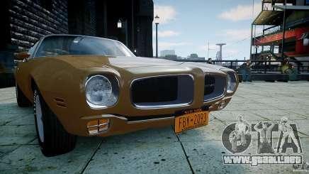 Pontiac Firebird 1970 para GTA 4