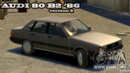 Audi 80 B2 1986 v 2.0 para GTA 4