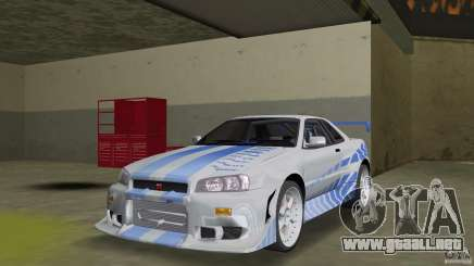 Nissan Skyline R-34 2Fast2Furious para GTA Vice City