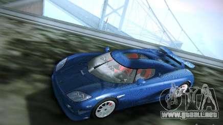Turquesa Koenigsegg CCXR Edition para GTA San Andreas