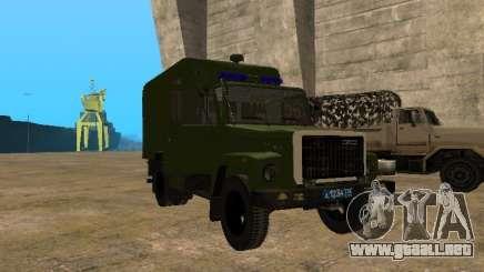 GAZ 3309 patrullero para GTA San Andreas